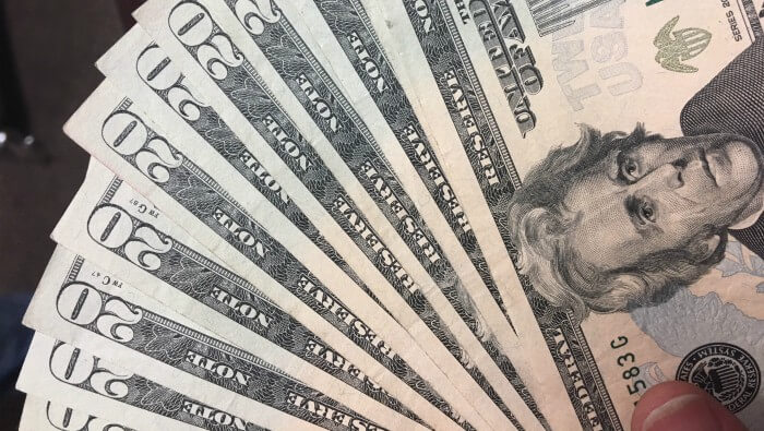 Image of $20s fanned out