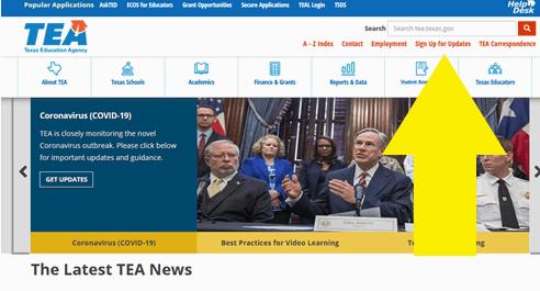 TEA home page